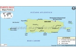 Puerto Rico Map in Spanish