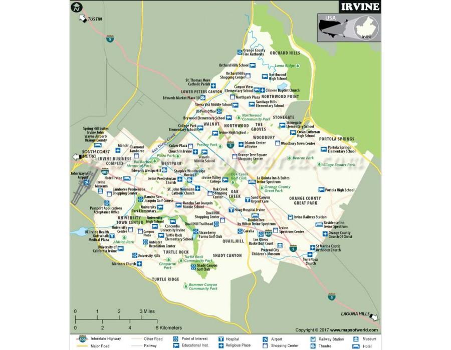Buy Irvine City Vinyl Map