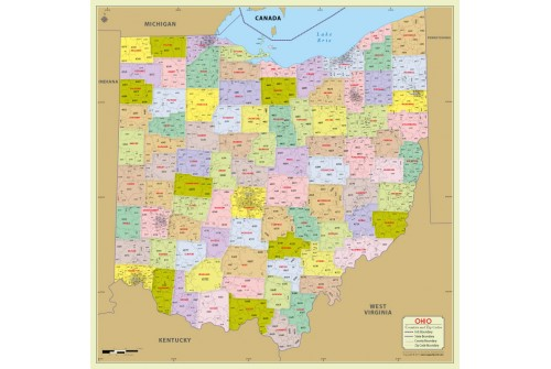 Ohio Zip Code Map With Counties