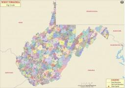 West Virginia Zip Codes Map
