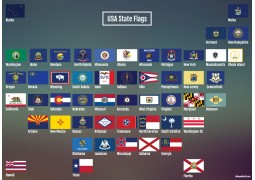 USA State Flags Map