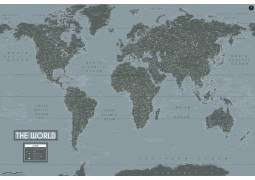 World Map Art-Deco