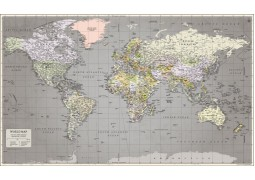World Map Retro