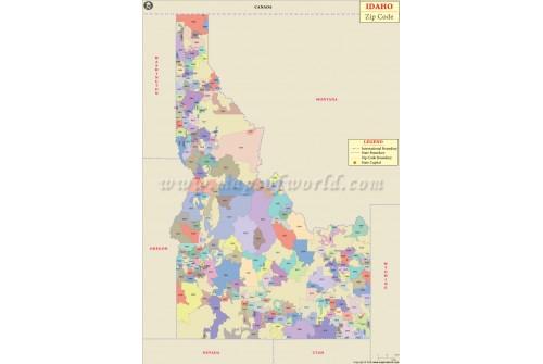 Idaho Zip Code Map