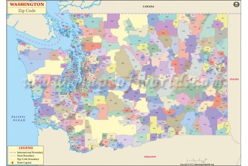 Washington Zip Code Map