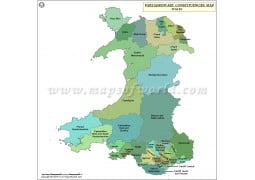 Welsh Parliamentary Constituency Map - Digital File