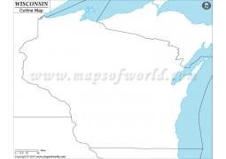 Wisconsin Outline Map - Digital File