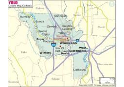 Yolo County Map