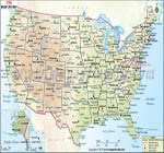 Usa Map With Major Cities