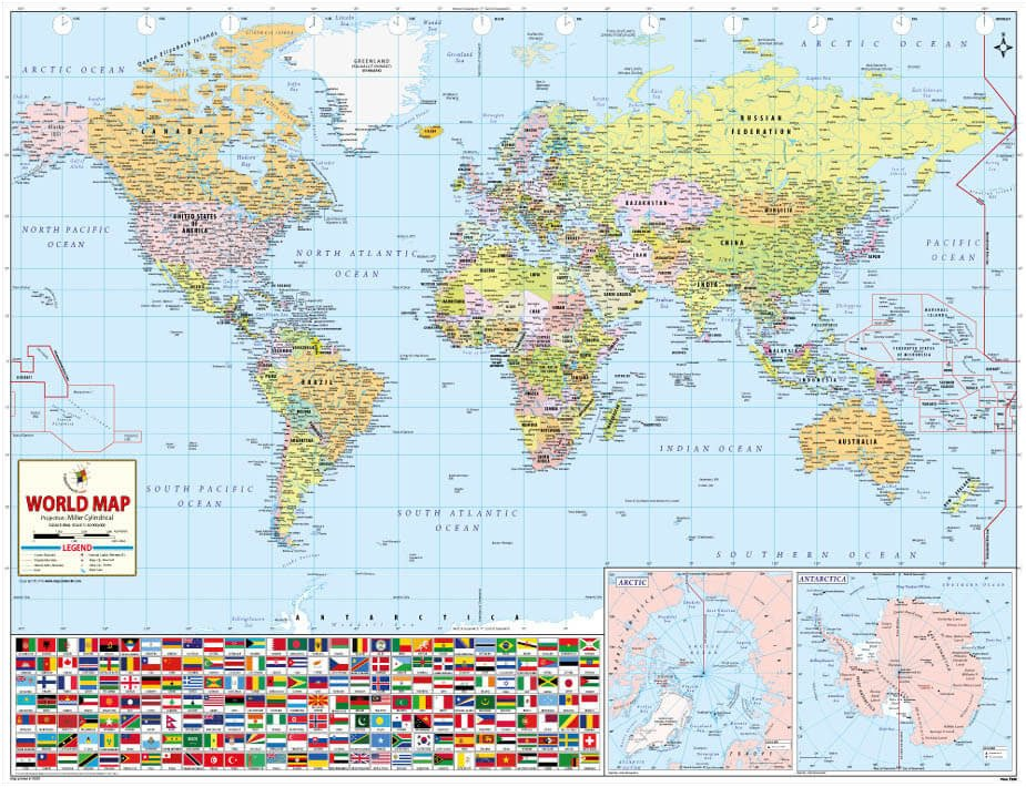 Buy World Best World Map Printed World Wall Map World Map Poster