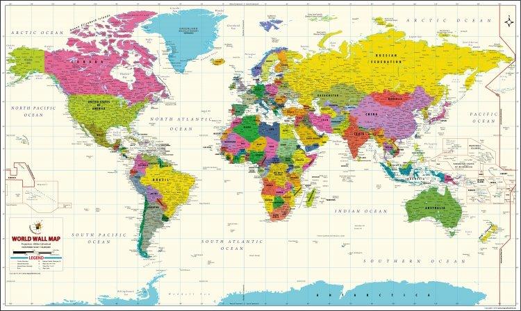 world map of the day
